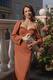 Платье бюстье кэмел