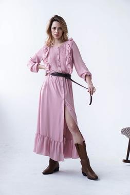 Сукня Рожева рюша