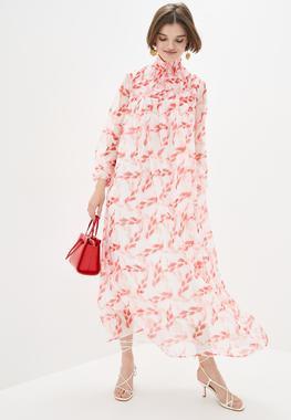 Платье Принт Листок