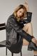 Пиджак из эко-кожи черный