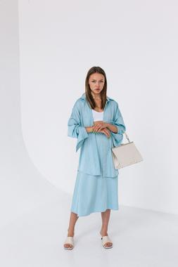 Блуза небесно-блакитна oversize