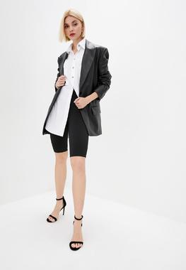 Піджак з еко-шкіри чорний