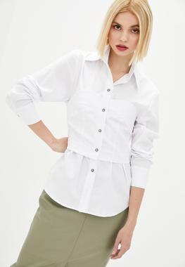 Блуза-корсет белая катон