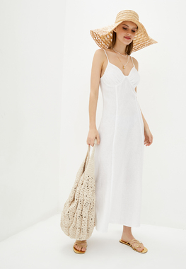 Сукня льон біла