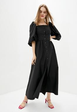 Сукня буфи чорна 100% бавовна