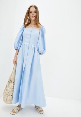 Сукня-буфи блакитна 100% бавовна