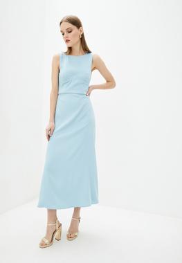 Сукня з бюстьє небесно-блакитна атлас матовий