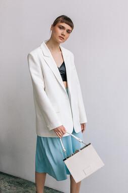 Жакет (піджак) oversize кремового кольору